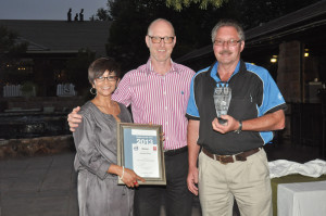 Volvo Trucks winner in the Aftersales Category from Kimberley, Valencia Adams, Business Controller: Western Region, Torbjörn Christensson, President: Volvo Group SA, and Allen Busse, Volvo Trucks GM: Western Region. Kimberley