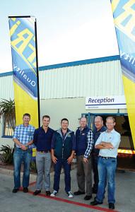 The van de Wetering directors of AFRIT Trailers at the launch of the new Spares Division: Gerben, Leon, Hans, Andre (Managing Director), Gerrit, and Albert.