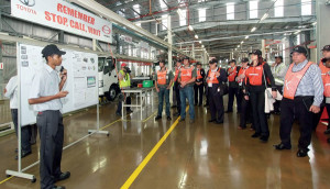 Visitors being shown around the new plant. - important initiatives