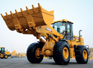 xcmg showing of their specialist machinery with this wheel loader