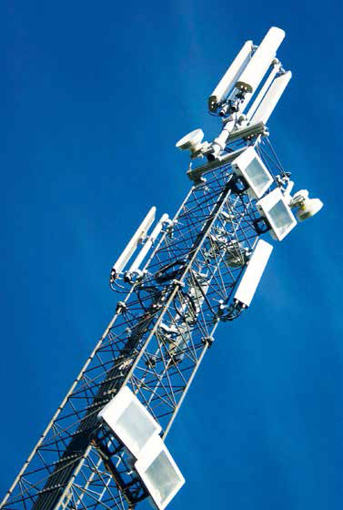 microwave tower for telematic use