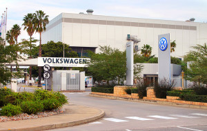 Volkswagen Group South Africa entrance to a plant