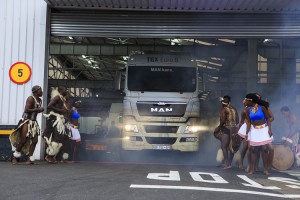The brand new tgx euro 5 from Man trucks Sa makes its debut with an african welcome