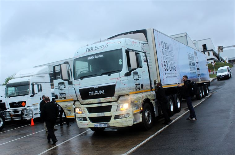 The New MAN TGX is ready to take on the African roads