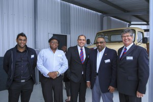 Geoff du Plessis, Managing Director of MAN Truck and Bus on the far right seen with guests and MAN team members attending the launch