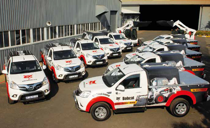 Bobcat Equipment SA recently took delivery of a fleet of 10 Foton Tunland Off- Road pick-ups