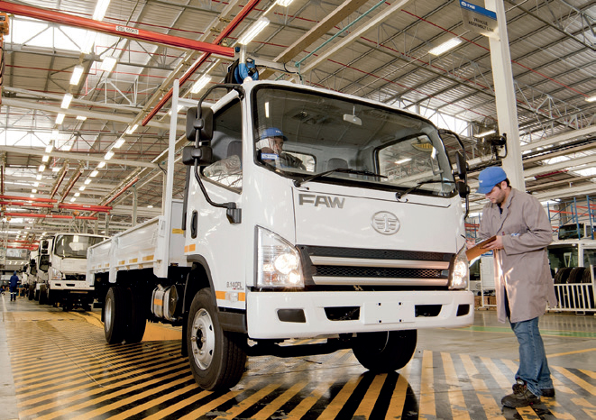Decline in Medium Commercial Vehicles in South Africa.