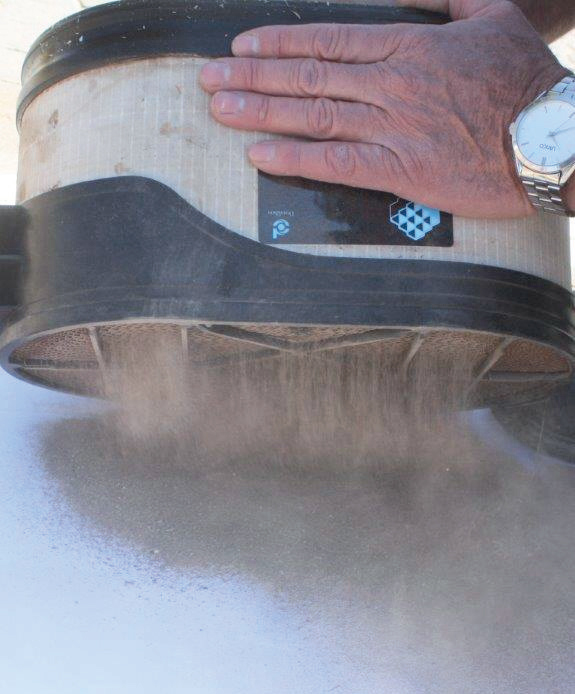 As much as a cup full of dust can come out of a Donaldson air filter at the end of a stage on the Dakar.