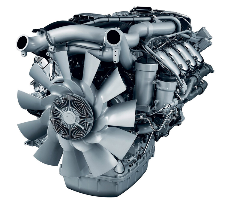 One of today's best powerhouses – the Scania 15,6-litre 580hp engine.