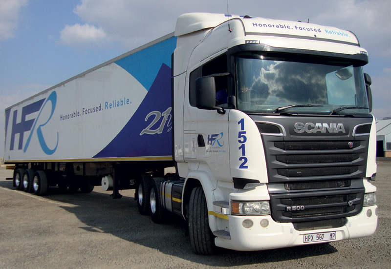"""HFR Schaefer Transport's MD, Stefan van Rensburg says: """"We love our V8s. They're literally the best thing since sliced bread for our business – smooth power, fuel efficient, durable and great uptime – all-round frugal total operating cost."""""""