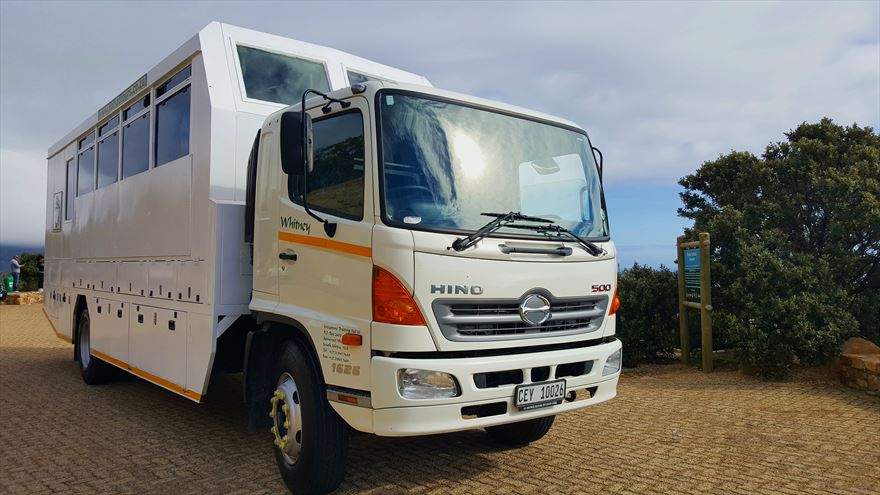 This is one of the first Hino-based trucks to be put into operation by Nomad Tours