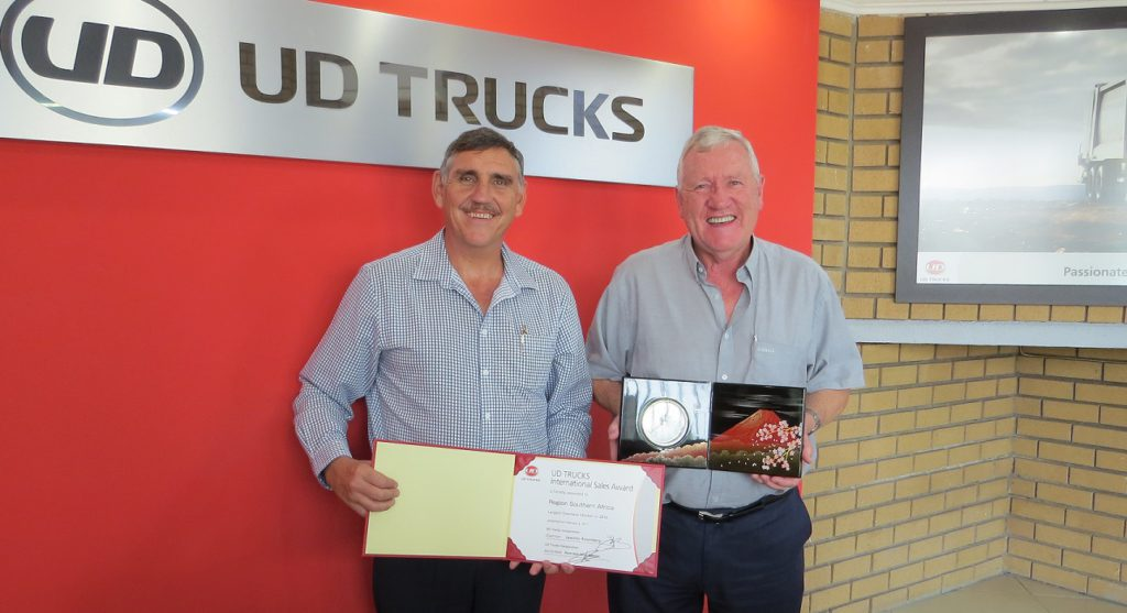 UD Trucks Wins International Sales Award