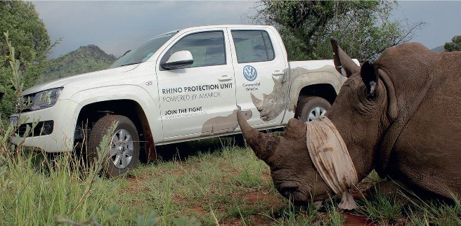 Volkswagen continues its fight for the protection of rhinos