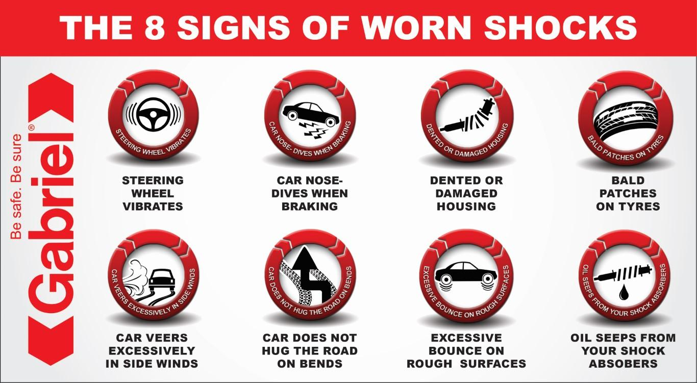 8 signs of worn Shock absorbers