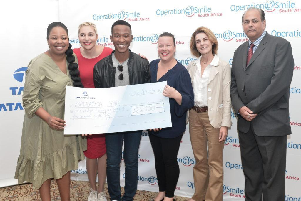 Sibongile Mafu (Ambassador), Liezel van der Westhuizen(Ambassador), Katlego Maboe (Ambassador), Lauren Bright (Country Manager for Operation Smile South Africa), Benedetta Spinola (Operation Smile Vice President) and Sanjay Pandya (TATA Executive Director)
